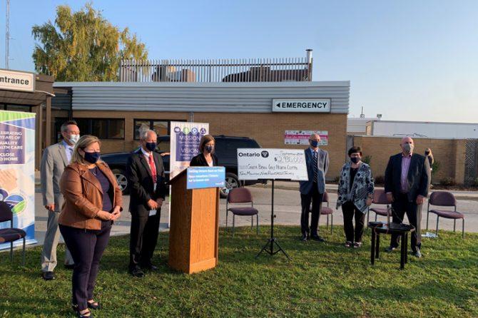 MPP Lisa Thompson Makes Capital Funding Announcement for SBGHC Kincardine